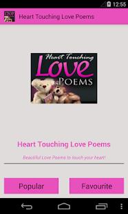 Heart Touching Love Poems- screenshot thumbnail