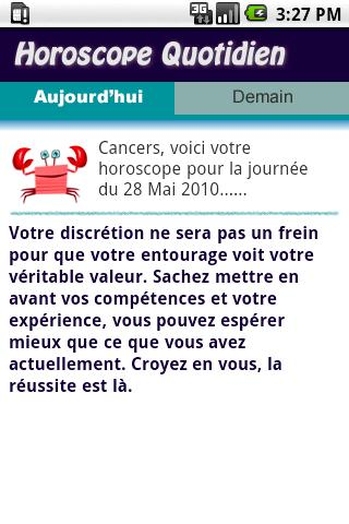 Cancer Daily Horoscope - screenshot