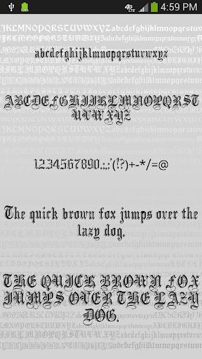 Gothic Fonts for FlipFont