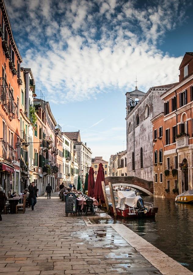 Venice, Italy by Paul Stonehouse - City,  Street & Park  Street Scenes ( venice canal, venice, venice street, travel, italy, travel photography, venetian, travel locations )