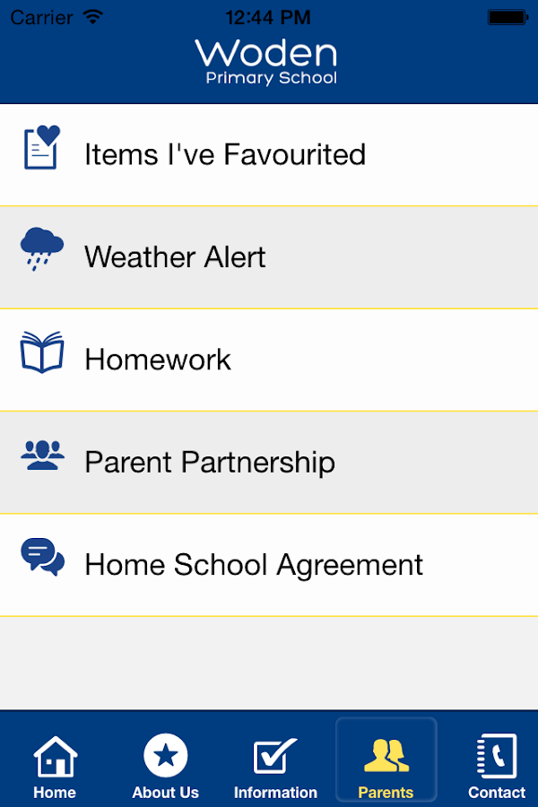 Woden Primary School- screenshot