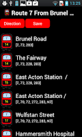 Screenshot of Live London Bus TFL Tracker