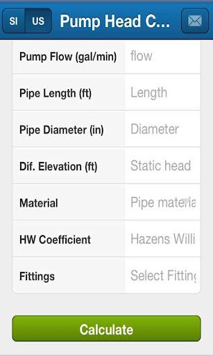 Pump Head Calculator