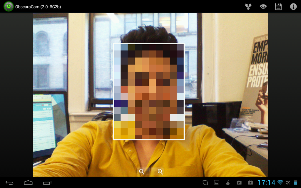 ObscuraCam: The Privacy Camera - screenshot