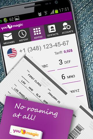 YouMagic Free Call SIP/VoIP/IP - screenshot