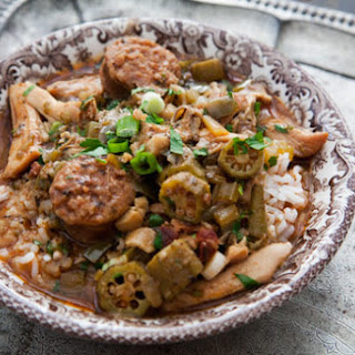 Chicken Gumbo with Andouille Sausage.