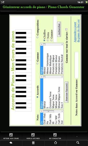 Piano Chords Generator