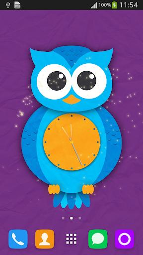Owl Clock Live Wallpaper