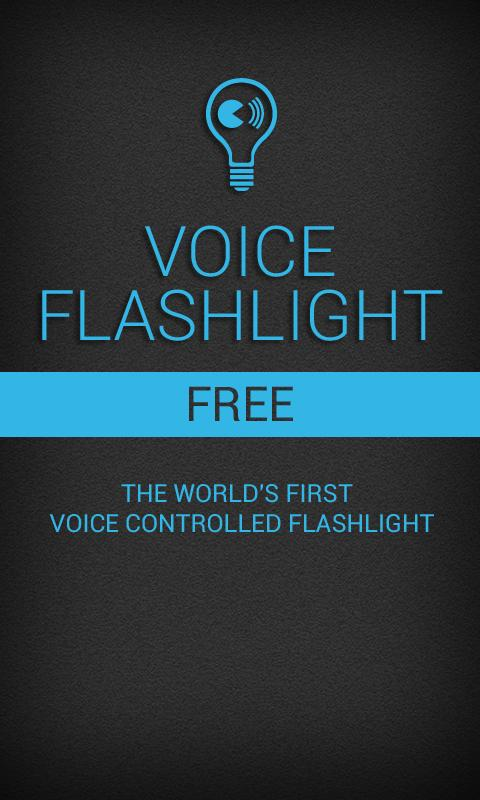 Voice Flashlight Free - screenshot