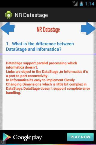 NR Datastage
