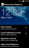 Screenshot of Galaxy Clock Widget Pro