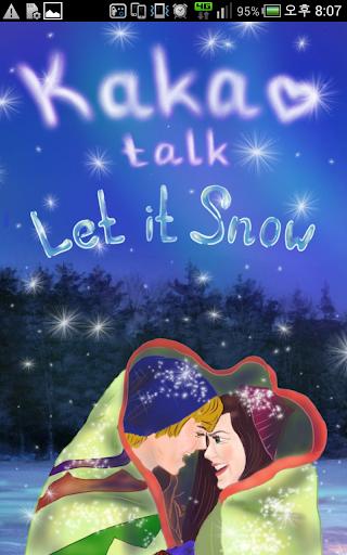 카카오톡 테마 Let it Snow