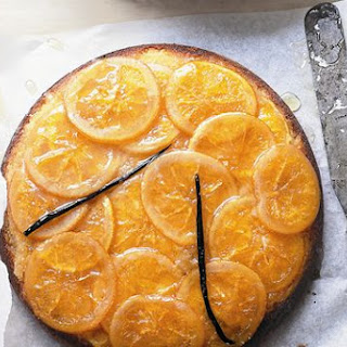 Donna Hay's sticky orange and vanilla upside-down cake.