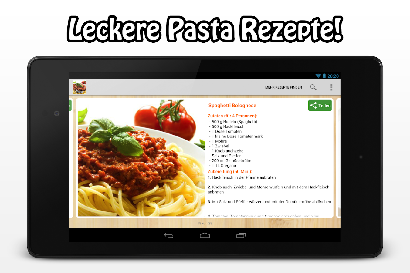 Pasta Rezepte - Android Apps on Google Play