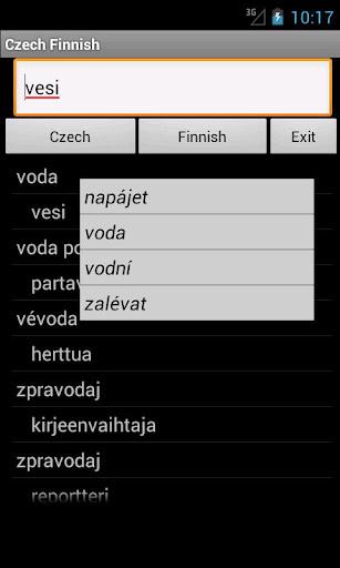 Czech Finnish Dictionary