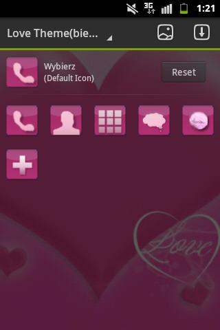 GO Launcher EX Theme Love Pink- screenshot