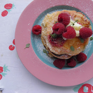 Raspberry and Goat Cheese Pancakes Recipe