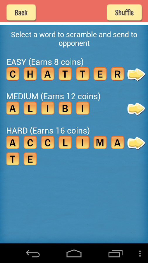 Unscramble This - screenshot