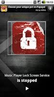 Screenshot of Music Player Lock Screen