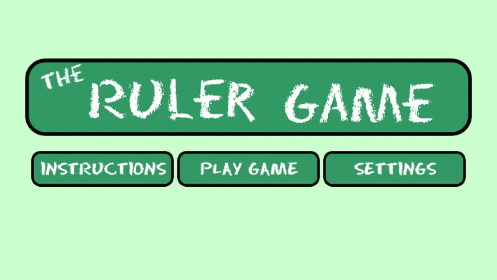 The Ruler Game- screenshot
