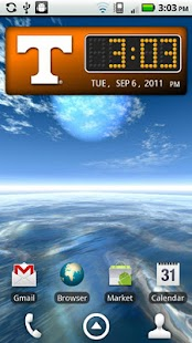 Tennessee Vols Clock Widget - screenshot thumbnail