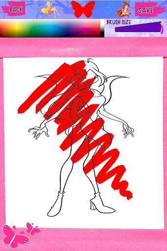 Winx club Cartoon Coloring