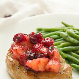 Slow Cooker Apple-Cranberry Pork Chops
