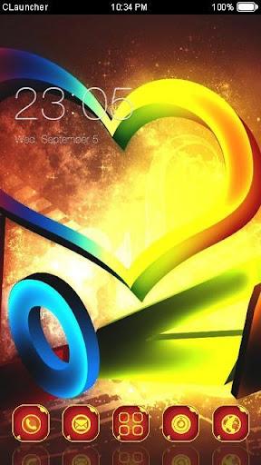 Love Heart C Launcher Theme
