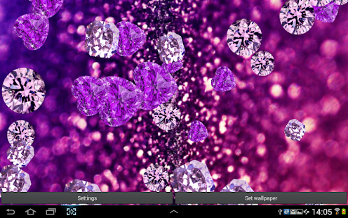 rain of diamonds live wallpaper