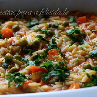 Vegetarian, Leek, and Orzo Soup.
