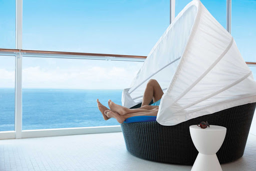 Celebrity_Equinox_BubbleChair - Get cozy and enjoy a little privacy in a bubble chair on Celebrity Equinox.