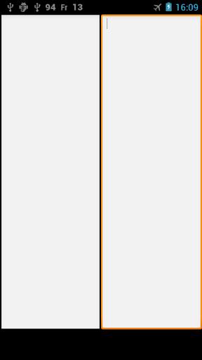 横2面テキストエディタ