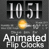 Live Wallpaper Flip Clock Tria