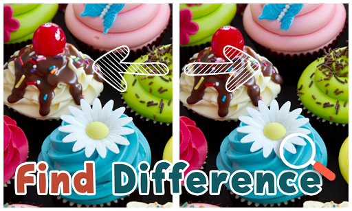 Find Differences Cupcake Game