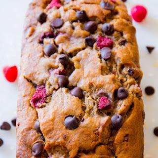 Dark Chocolate Raspberry Banana Bread