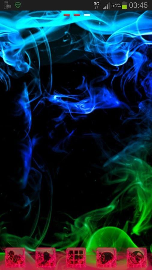 GO Launcher Theme green smoke - screenshot