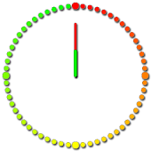 Analog Clock Rainbow