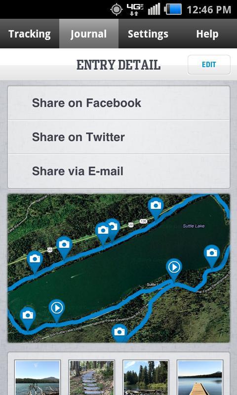 Columbia's GPS PAL™ - screenshot