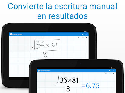 MyScript Calculator: miniatura de captura de pantalla