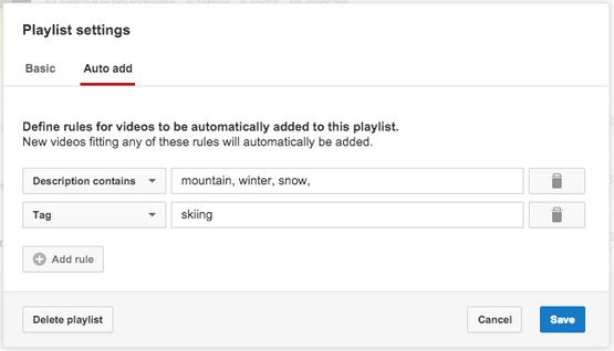 how to delete youtube playlist videos