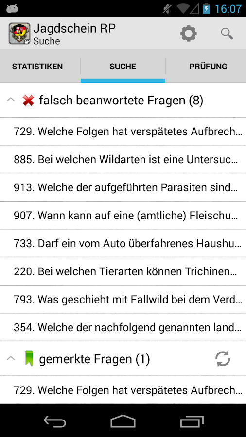 Jagdschein Rheinland-Pfalz - screenshot