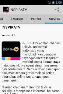 Inspira TV screenshot