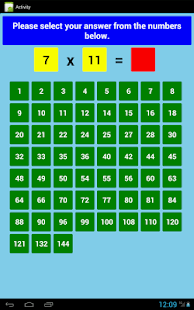 Multiplication Tables Free- screenshot thumbnail