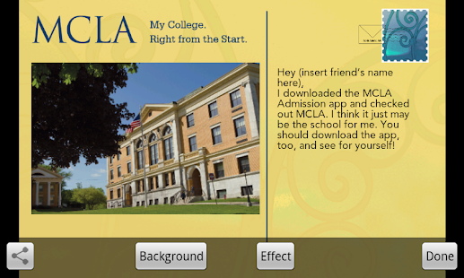 MCLA Admissions - screenshot thumbnail