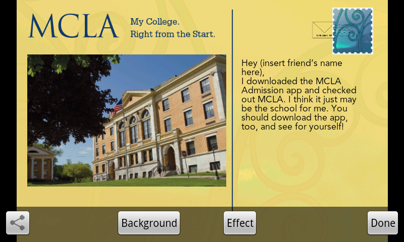 MCLA Admissions - screenshot