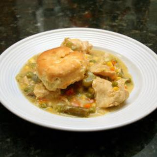 Slow Cooker Chicken With Biscuits.