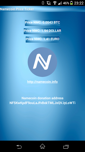 Namecoin NMC price ticker