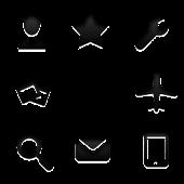 Плоская черная темаCGLauncher