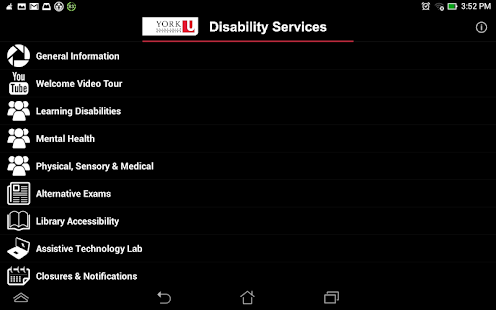 York U Disability Services- screenshot thumbnail