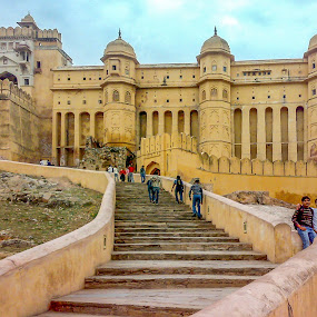 Amer fort by Brijesh Meena - City,  Street & Park  Historic Districts ( history, amer fort, architecture, historical, heritage,  )